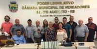 Familiares do Ex-vereador Balduino Wottrich visitaram a Câmara de Vereadores