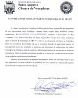 MANIFESTAÇÃO DE APOIO AO PROJETO DE RESTAURAÇÃO DA ERS-571